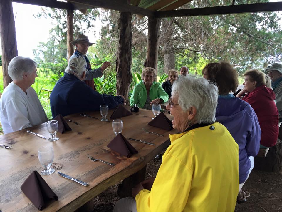 Sports Leisure travelers enjoying a meal in Maui
