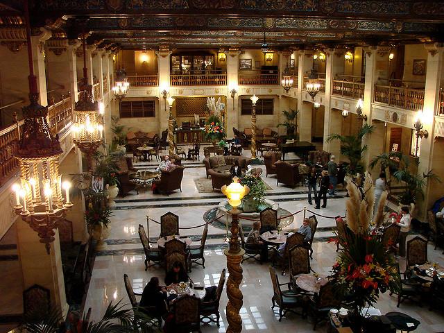Interior of Historic Davenport Hotel