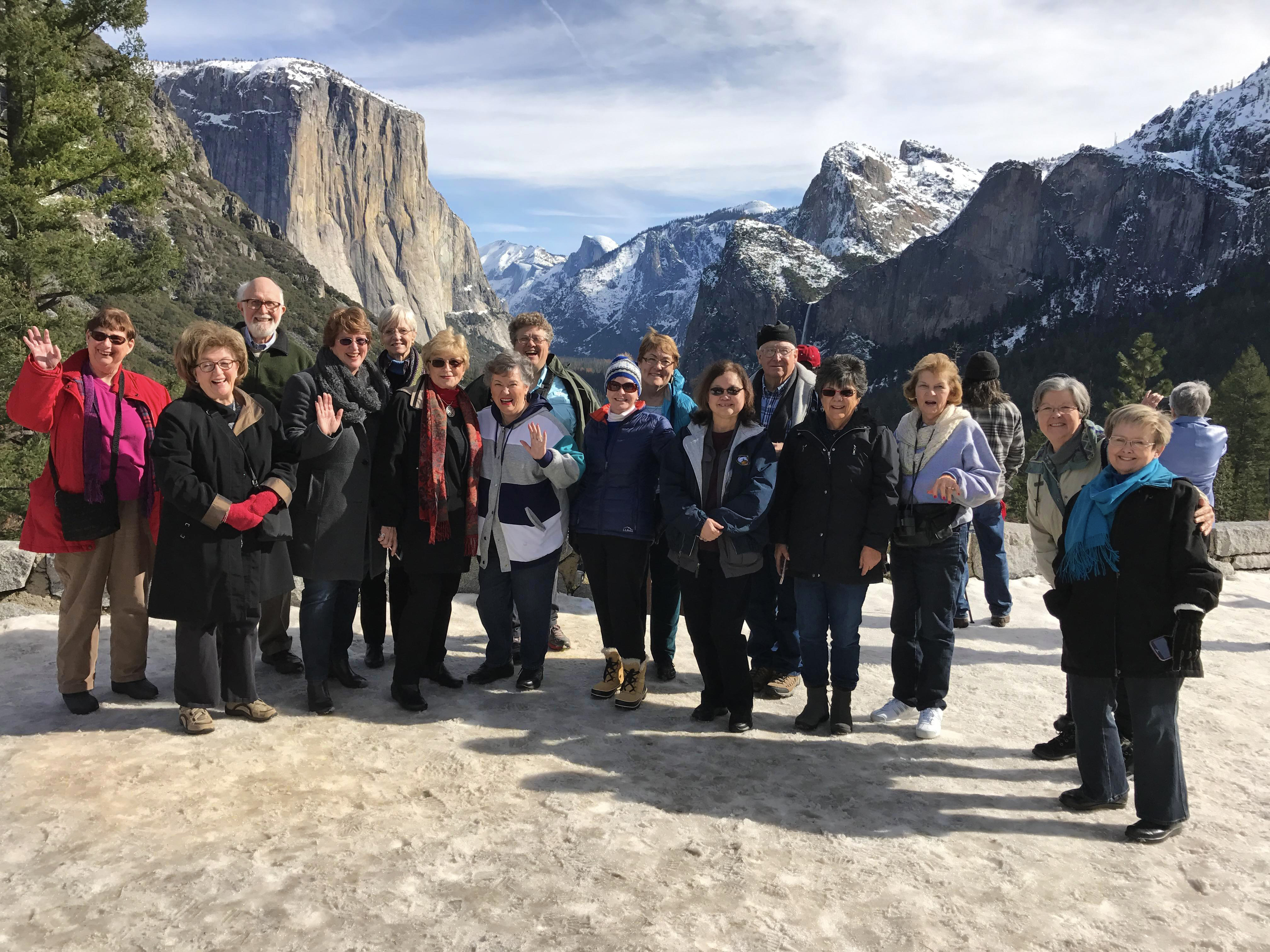 Sports Leisure travelers in Yosemite