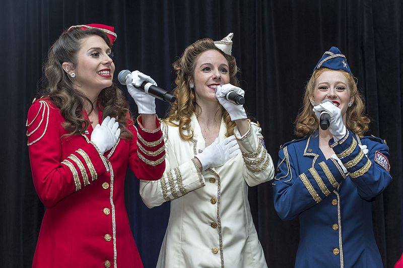 The Victory Belles performing