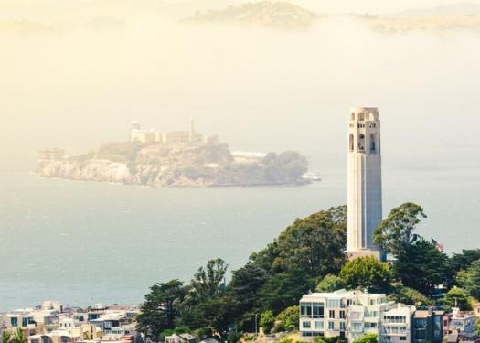 View of Alcatraz from San Francisco