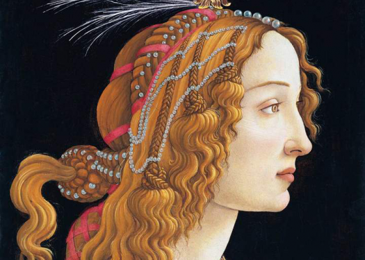 Sandro Botticelli, 'Idealized Portrait of a Lady, 1475