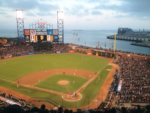 View of AT&T Park in San Francisco