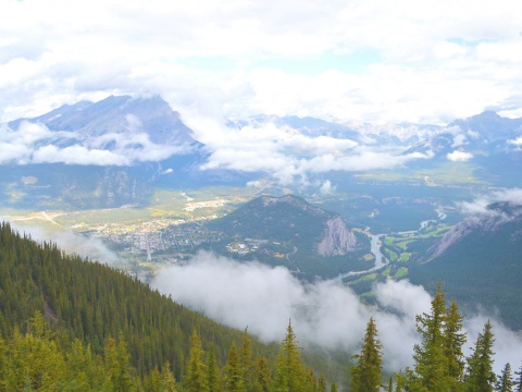 View of the Rocky Mountains, Canada