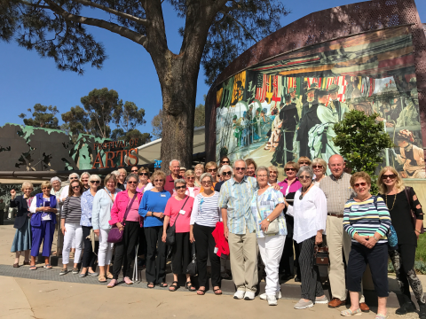 Sports Leisure Travelers on the Pageant of the Masters tour