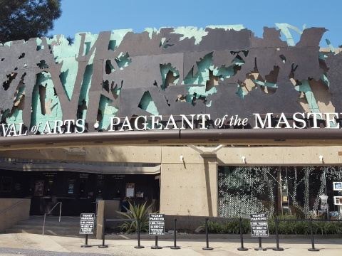 Pageant of the Masters theater entrance