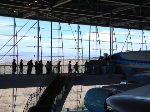 Reagan Library jet plane view