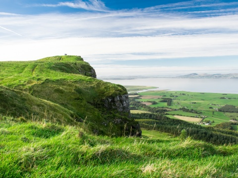 Irish view on the coast