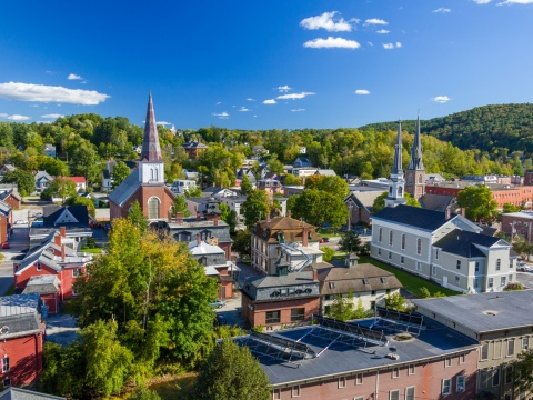A view of Montpelier Vermont