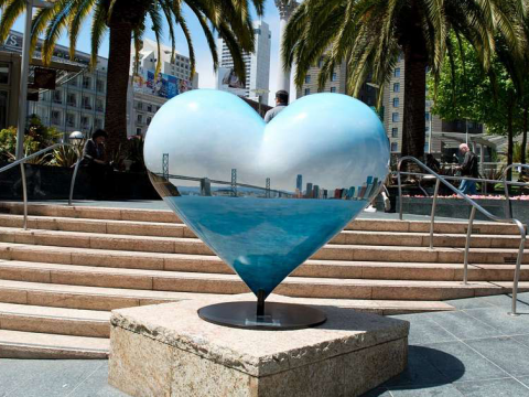 Heart Sculpture at Union Square in San Francisco