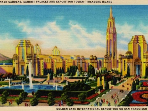 Old photograph of Treasure Island International Expo