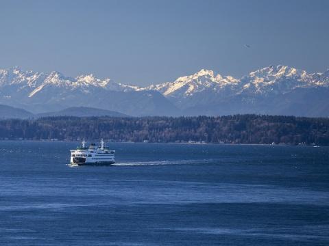 Ferry on Puget Sound