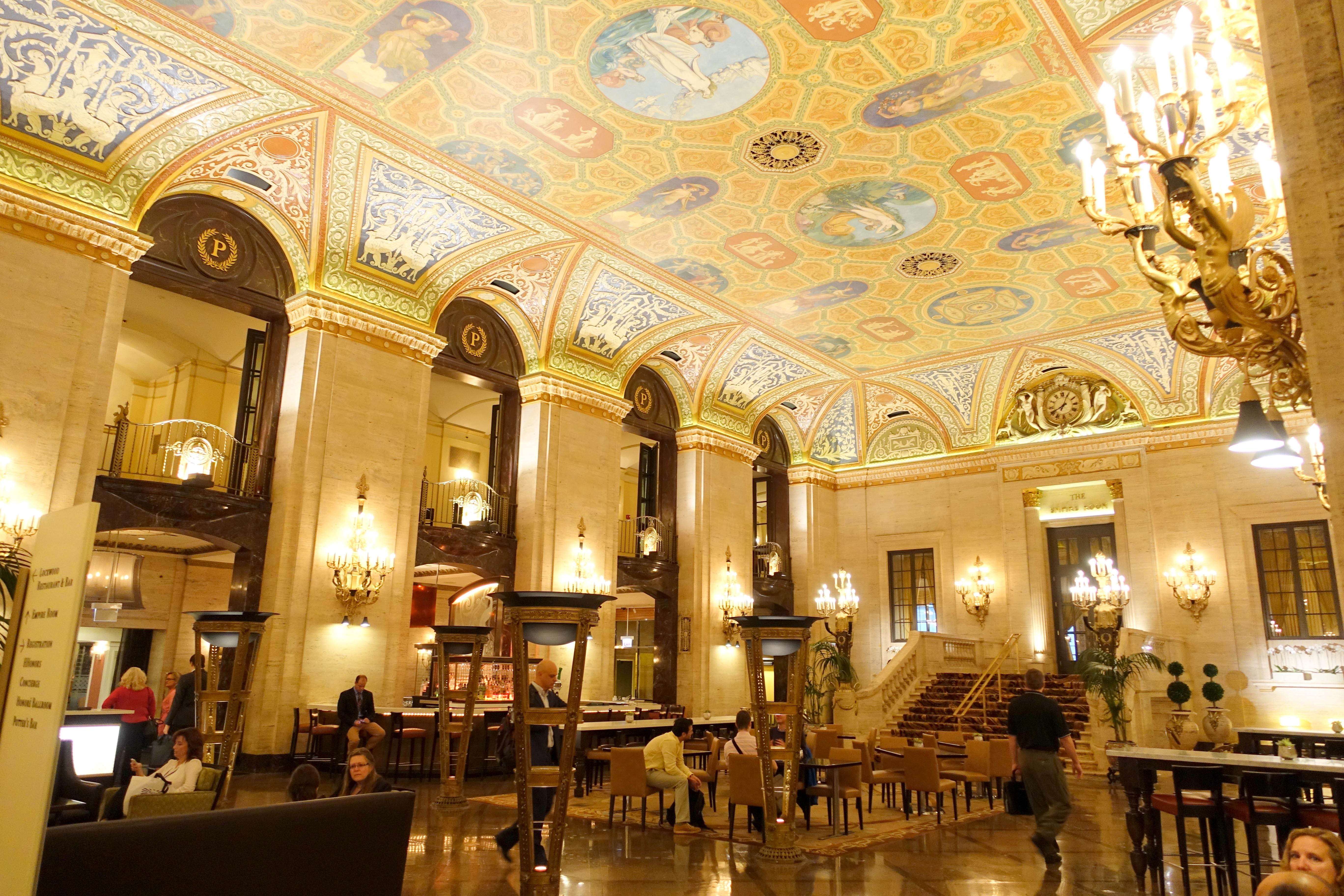 The Historic Palmer House Hotel lobby