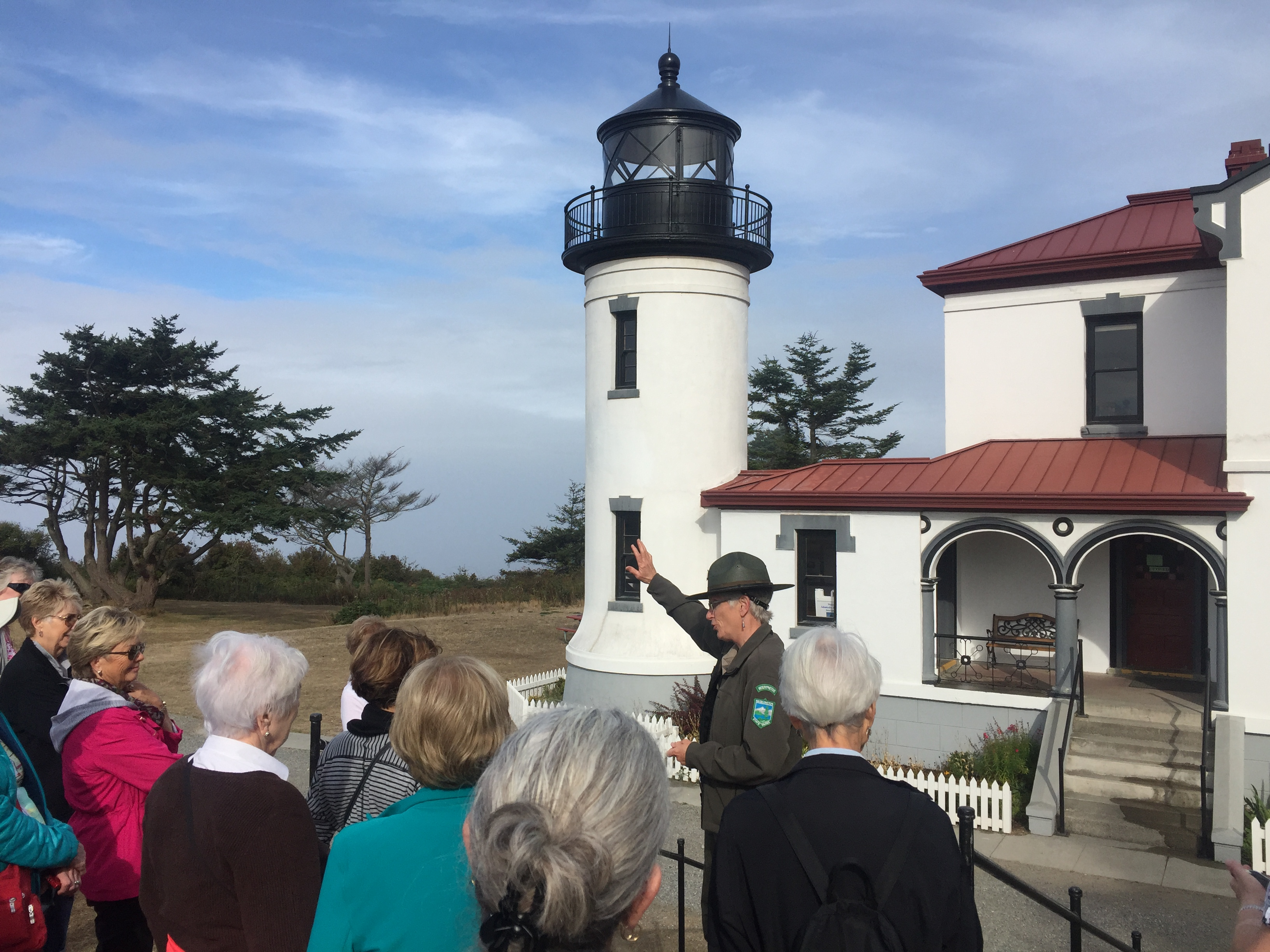 Tourguide at a Lighthouse in Washington